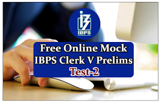 Free Online Mock Test for IBPS Clerk 2015 Prelims Exam- Test-2