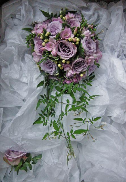 Eucalyptus And Purple Bouquet