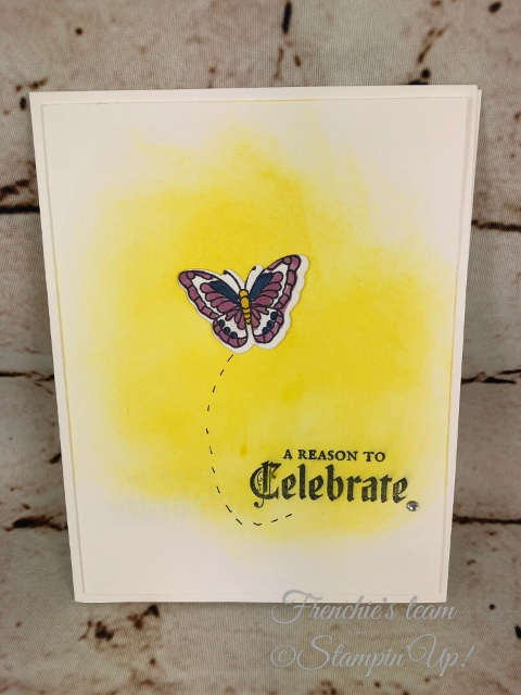 Painted Glass, Frenchie' Team, Stampin'Up!, New release stamp set in the Annual catalog,