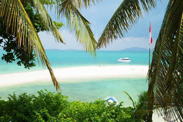Pangkil Island, a tropical paradise in south east corner of Bintan Island