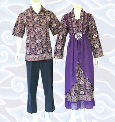 Model Gamis Batik Sarimbit trend masa kini