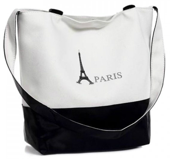 Bolso black and white
