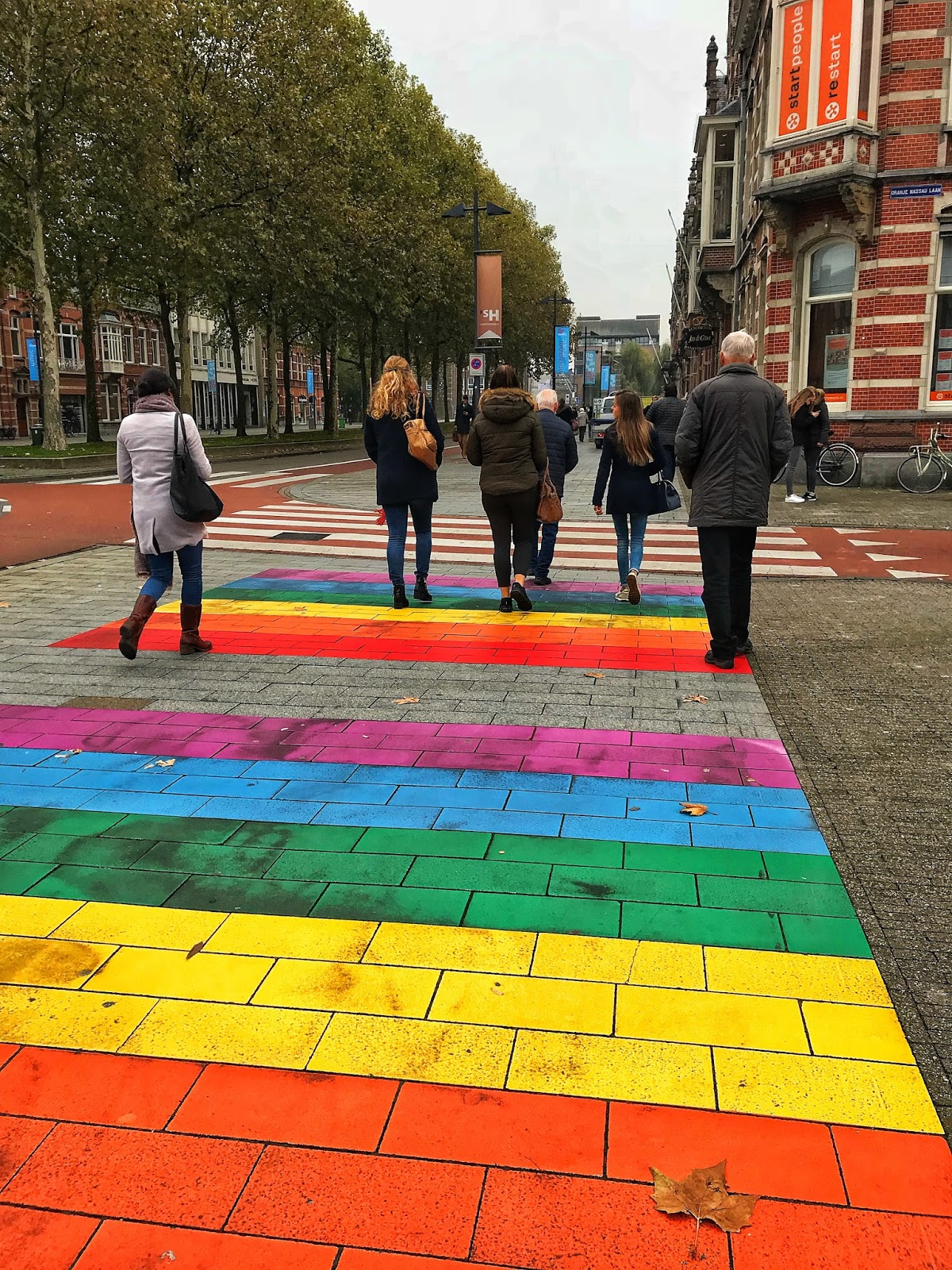Colourful city streets of Den Bosch