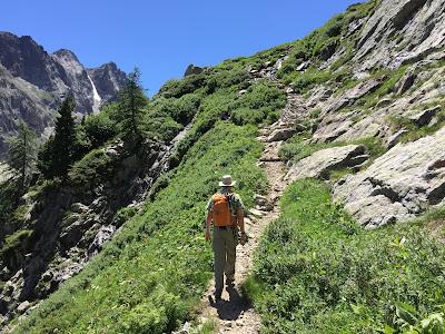 Trail just below Rifugio Questa