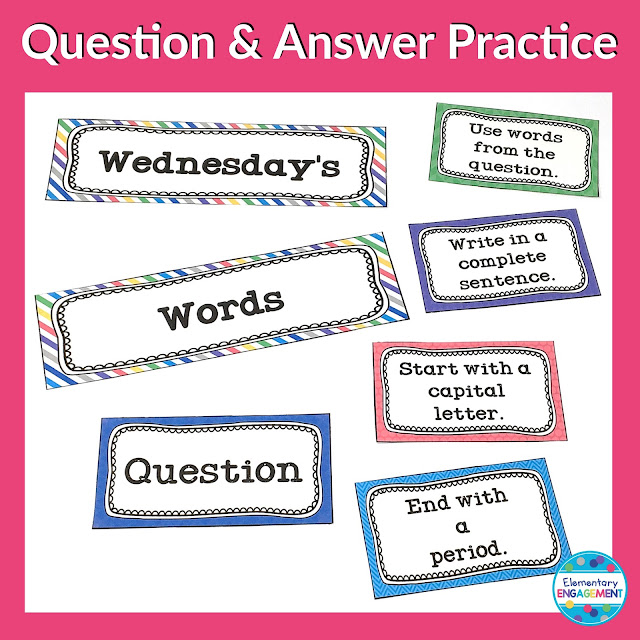 Wednesday's Words: A free and easy way to practice responding using complete sentences!