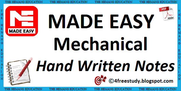 GATE Made Easy Mechanical Engineering Hand Written Class Notes