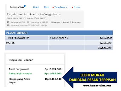 Lebih Murah Paket Tiket + Hotel di Traveloka