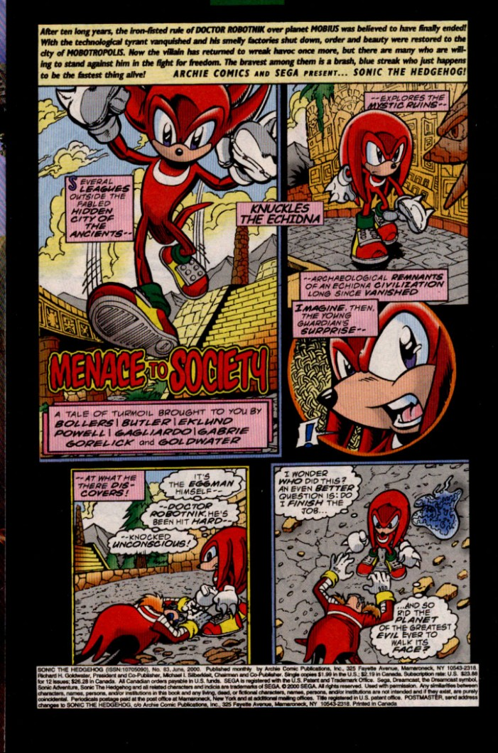 Read online Sonic The Hedgehog comic -  Issue #83 - 2