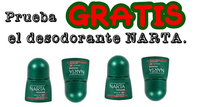prueba gratis desodorante narta