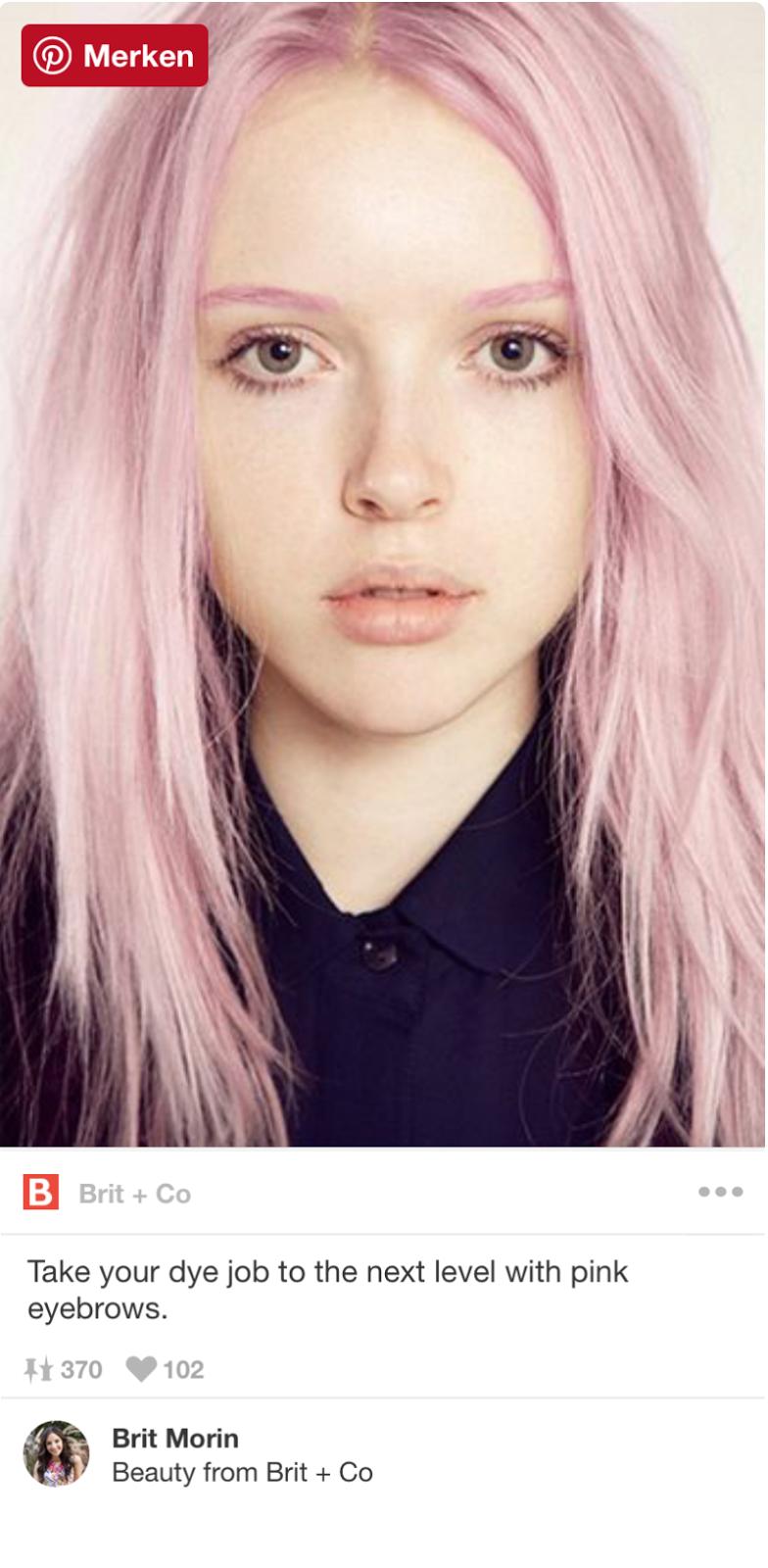 Kunterbunte Augenbrauen sind jetzt Trend |