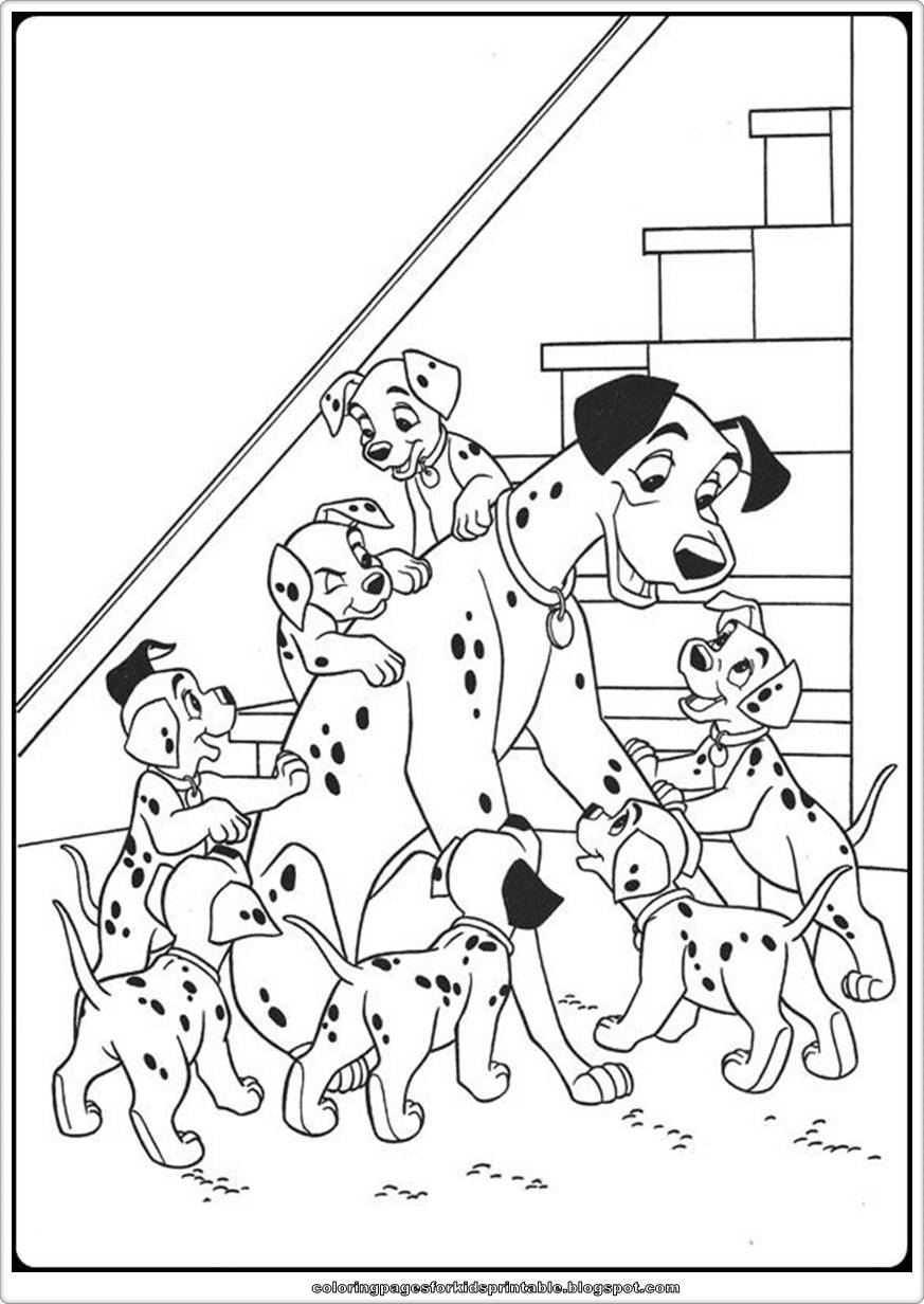 free101 dalmation coloring pages - photo#14