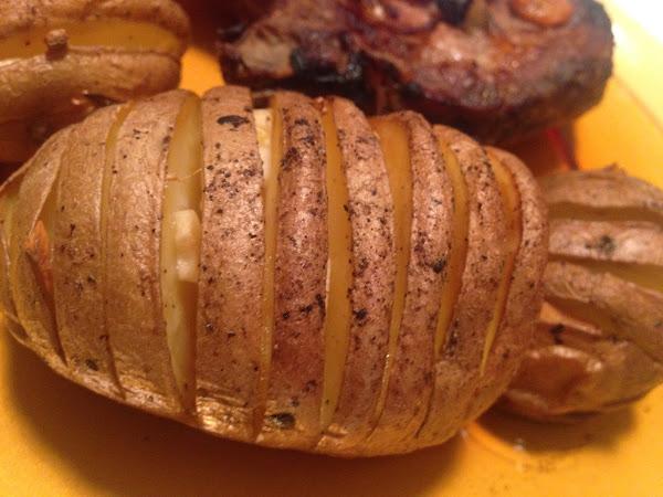 Чеснови картофи на гребен