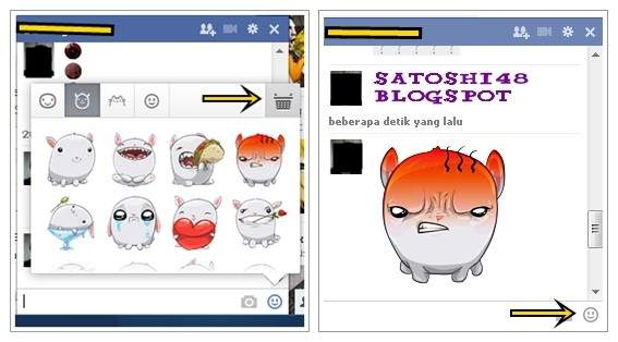 Add Sticker To Chat Facebook