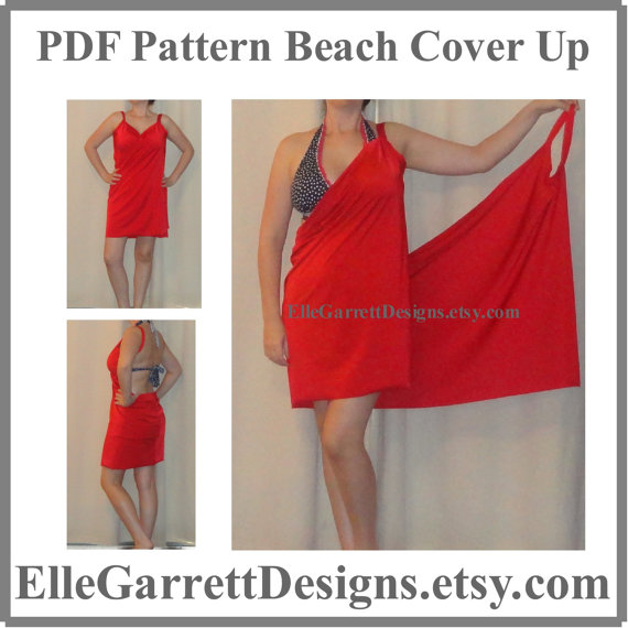 pareo, vestidos, playa, multifunción, moda, bricomoda, costura, beach cover up