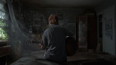 The Last of Us Part 2 - Ellie tocando violão de costas