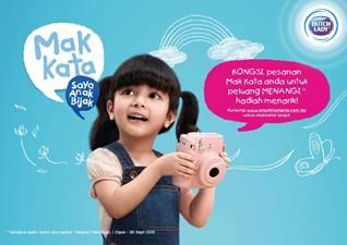 Lets Join Dutch Lady Mak Kata, Saya Anak Bijak Contest!