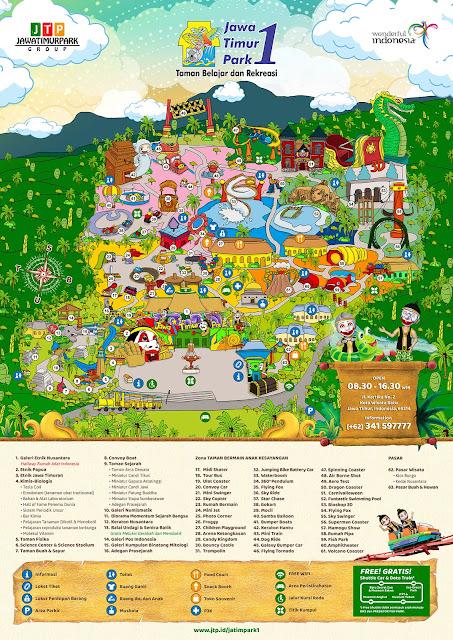 Peta Wahana Jatim Park 1