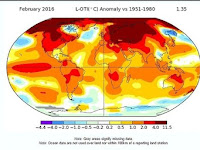 NASA: February 2016 Break the Record High Global Temperatures