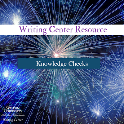 Writing Center Resource: Knowledge Checks image
