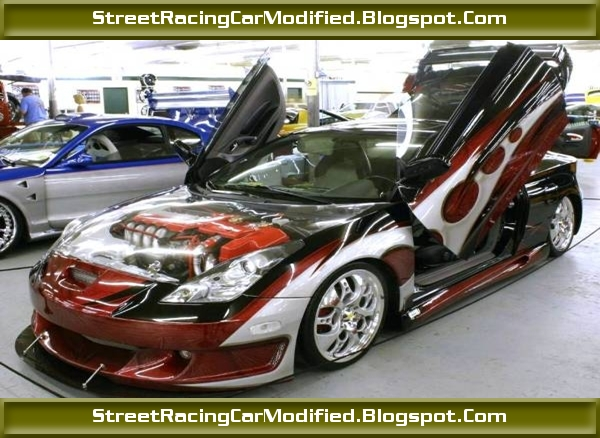 Custom Toyota Celica Street Sports Car With Graphics Paint Street