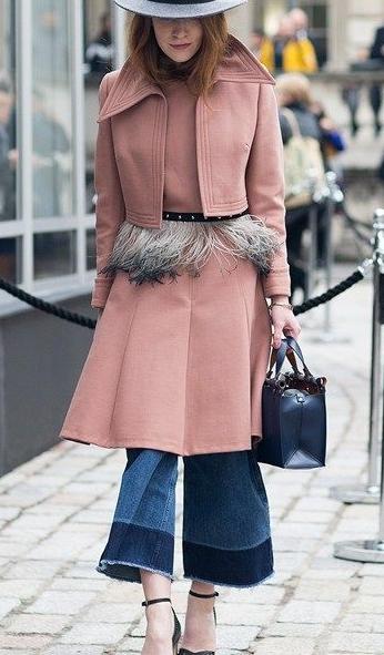 Street chic - Moda de rua casacos, agasalhos,  poncho