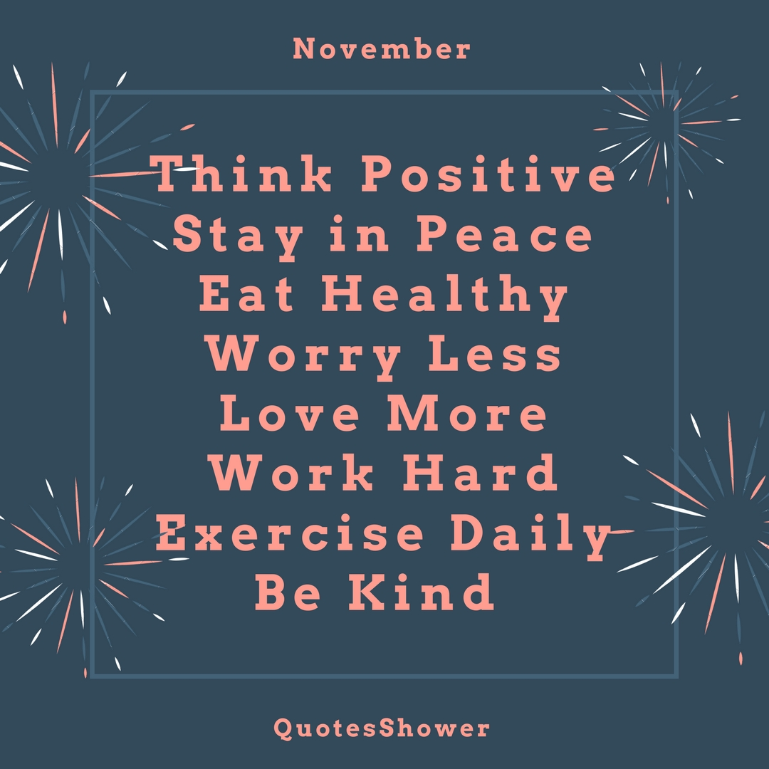 Quotes About New Month - November - Quotes Shower - Quotes ...