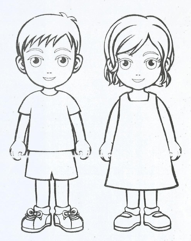 Mewarnai Gambar Anak Laki Dan Perempuan