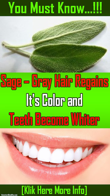 #Sage – #Gray #Hair Regains Its Color and Teeth Become Whiter #Health #Remedies
