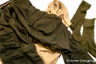 Photograph of wet clothes including pants, socks, and shirt in Pocatello, Bannock, Idaho created by Cramer Imaging
