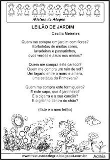 Poesia leilão de jardim