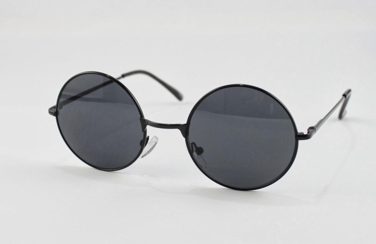 2318960813 Gafas Redondas Estilo Ozzy Osbourne Y John Lennon. Colores disponibles:  Negras: