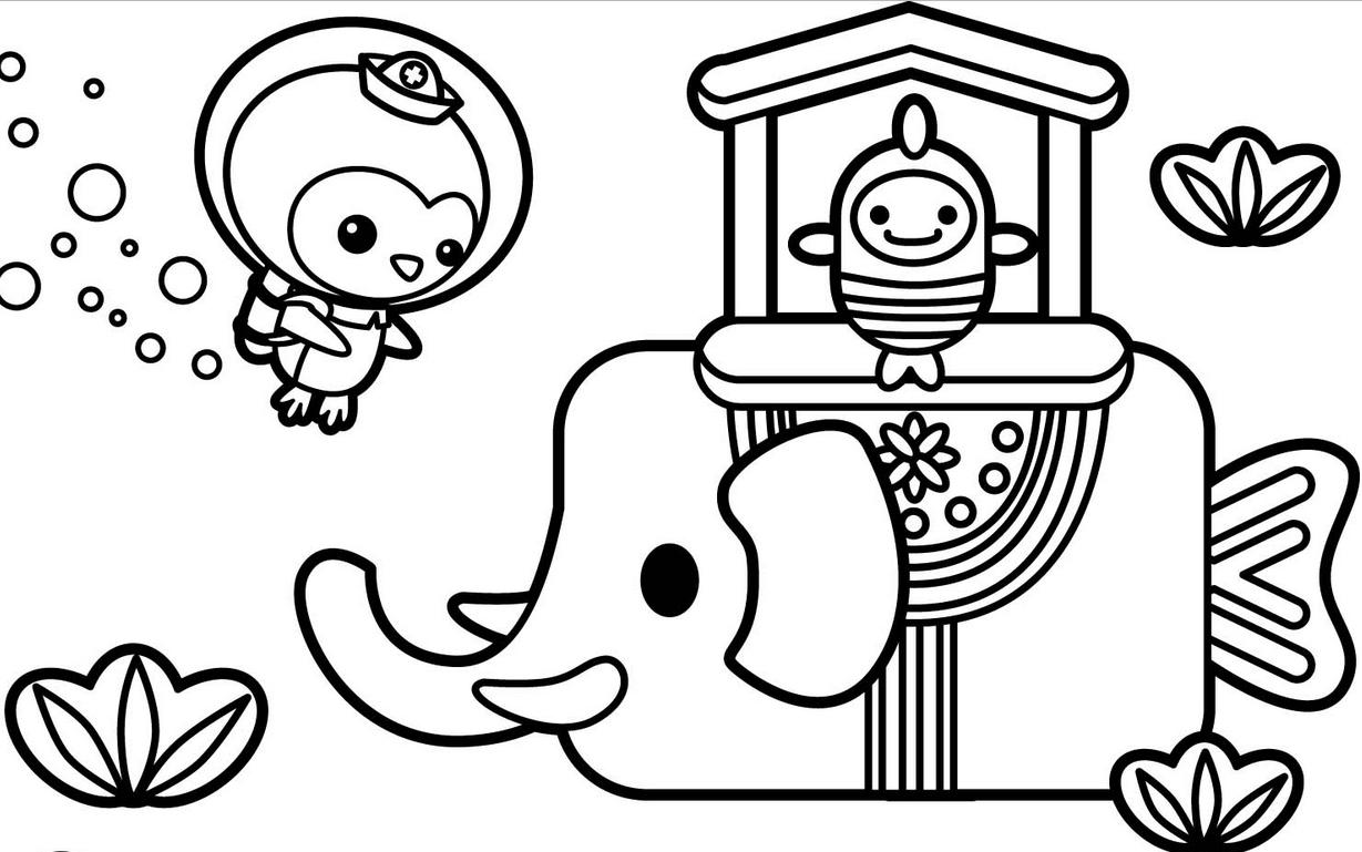 Baú da Web: Desenhos Octonautas para colorir
