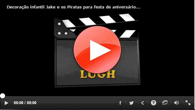 Moldura do Youtube para link do vídeo da decoração Jake e os Piratas
