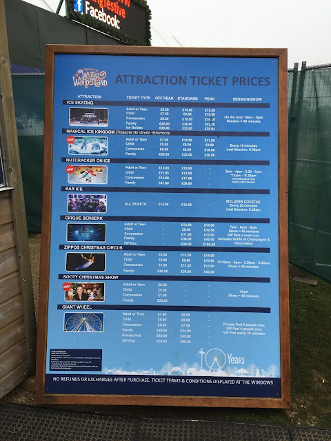 Winter Wonderland prices