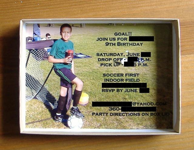 soccer party invite