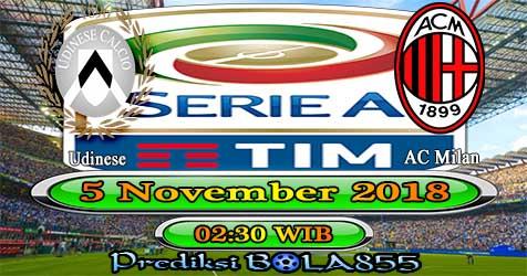 Prediksi Bola855 Udinese vs AC Milan 5 November 2018