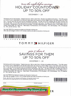 Free Printable Tommy Hilfiger Coupons