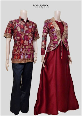 Model Baju Batik Blouse Couple Modern terbaru