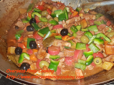 Special Pork Menudo with Olives - Cooking Procedure