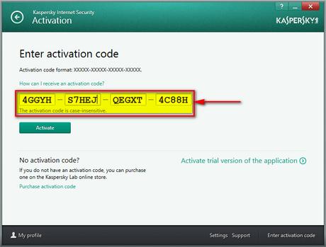 kaspersky internet security code free