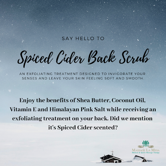AN IN-DEPTH LOOK AT OUR HOLIDAY ADD-ONS: SPICED CIDER BACK SCRUB