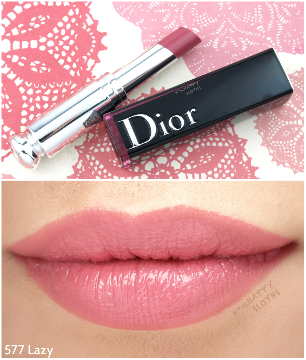"Dior Addict Lacquer Stick ""577 Lazy"": Review and Swatches"