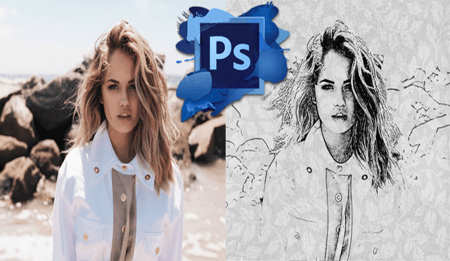 transform pictures into pencil drawings by Photoshop