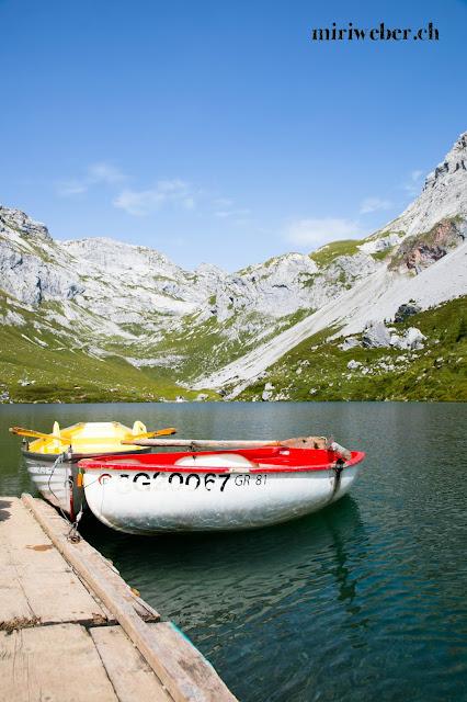 Graubünden, Prättigau, Switzerland, Bündner Bergsee, Schweiz, St. Antönien, Bergseebungalow