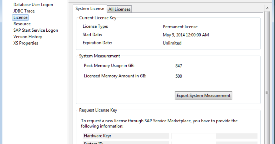 sap temporary license key download