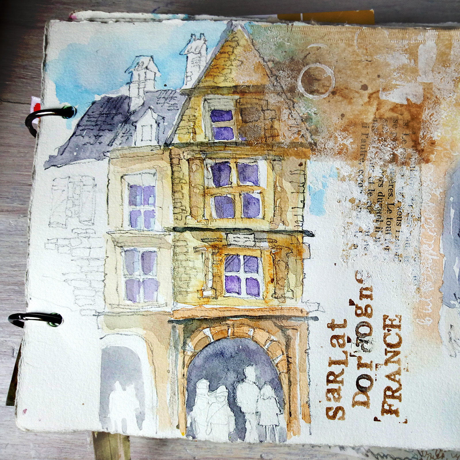 Sarlat-la-Caneda-sketchbook, house of La Boétie