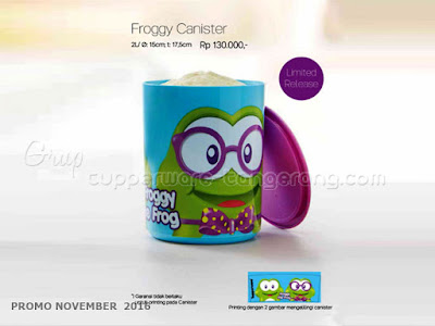Froggy Canister Promo Tupperware November 2016