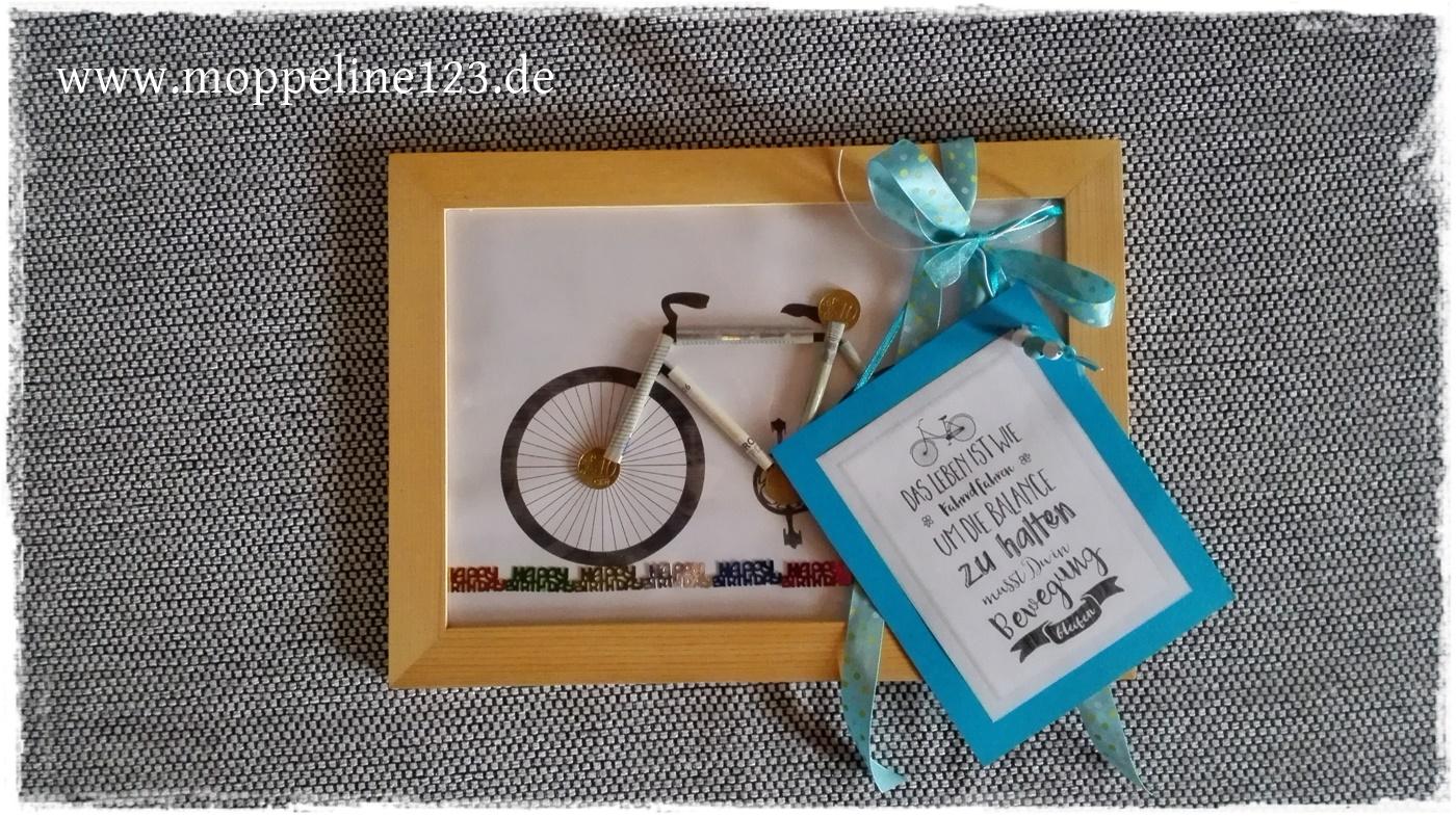 Moppeline123 Geldgeschenk Fahrrad