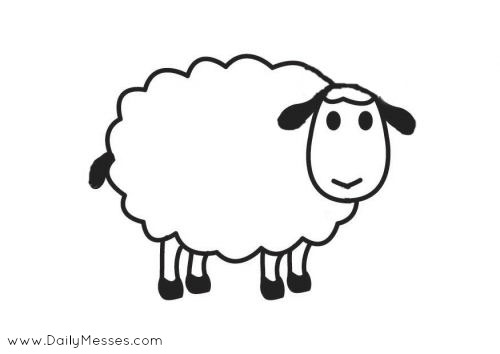 free sheep head coloring pages | Daily Messes: What Do Sheep, Spiders, Eggs, and Stars Have ...