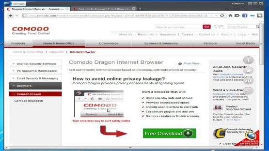 Comodo Browser screenshot 3